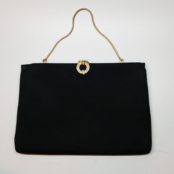Harry Levine Handbags - Black Vintage Jewel Accent HL Evening Handbag